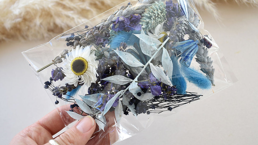 Blue & White Craft Pack | Dried Flowers for crafts | Florist Blackpool