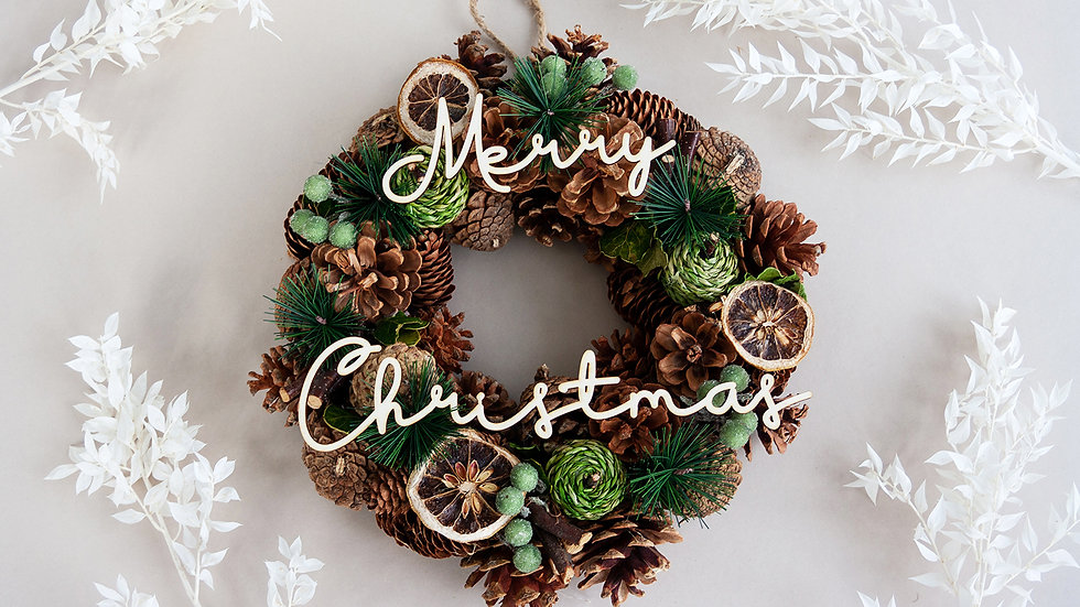 Lemon Christmas Wreath | Christmas Wreath | Dried Flowers