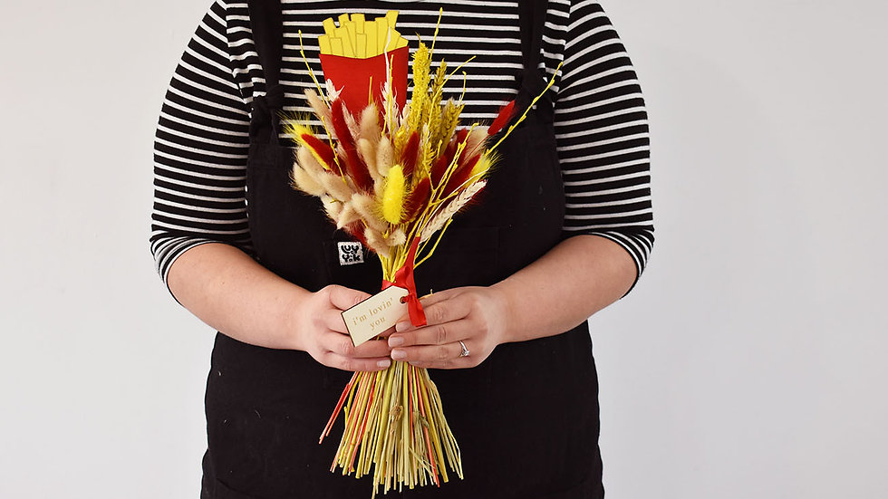 Red & Yellow Fast Food Lovers Bouquet