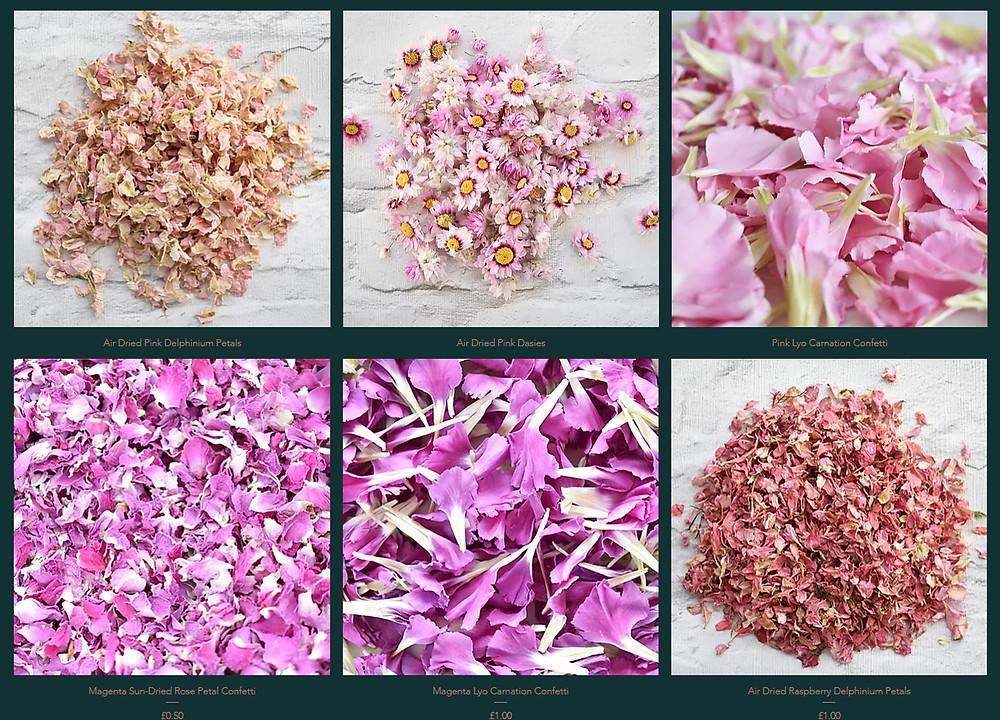 Delphinium Confetti | Rose Petal Confetti | Biodegradable Confetti