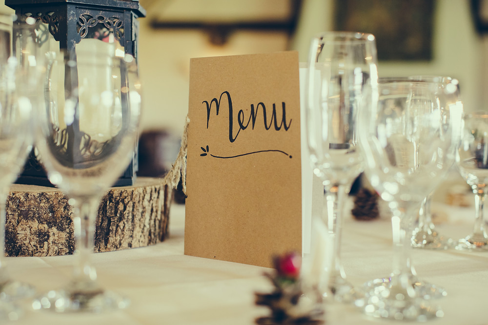 ideas for wedding menus