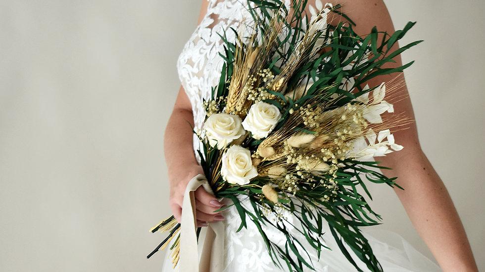 Pure Bridal| Dried Flower Bouquet| Bridal Bouquet