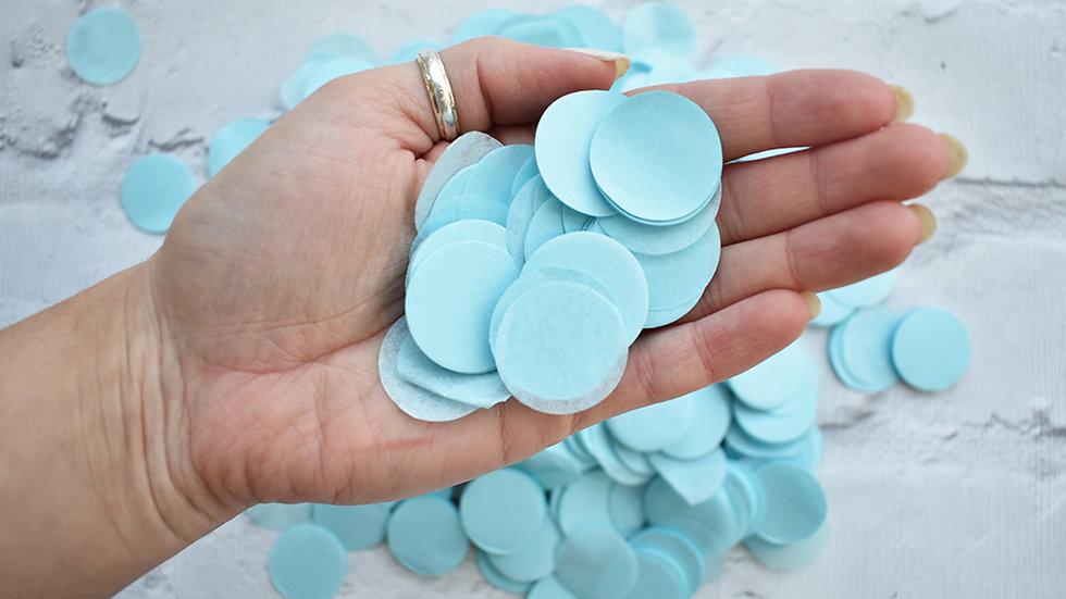 Baby Blue Circle Confetti | Biodegradable Confetti | Paper Confetti