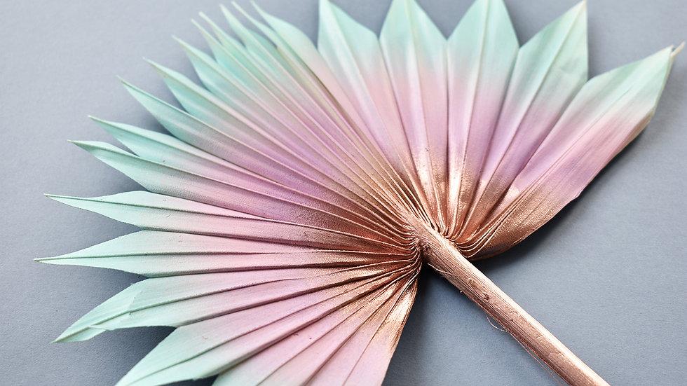 Pastel Rainbow Palm Leaf | Dried Flowers | Cake Topper