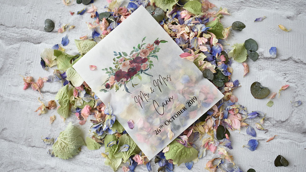 20 Personalised Boho Packets