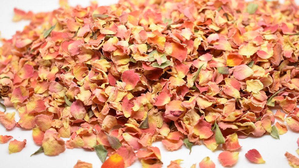 Coral Sun-Dried Rose Petal Confetti