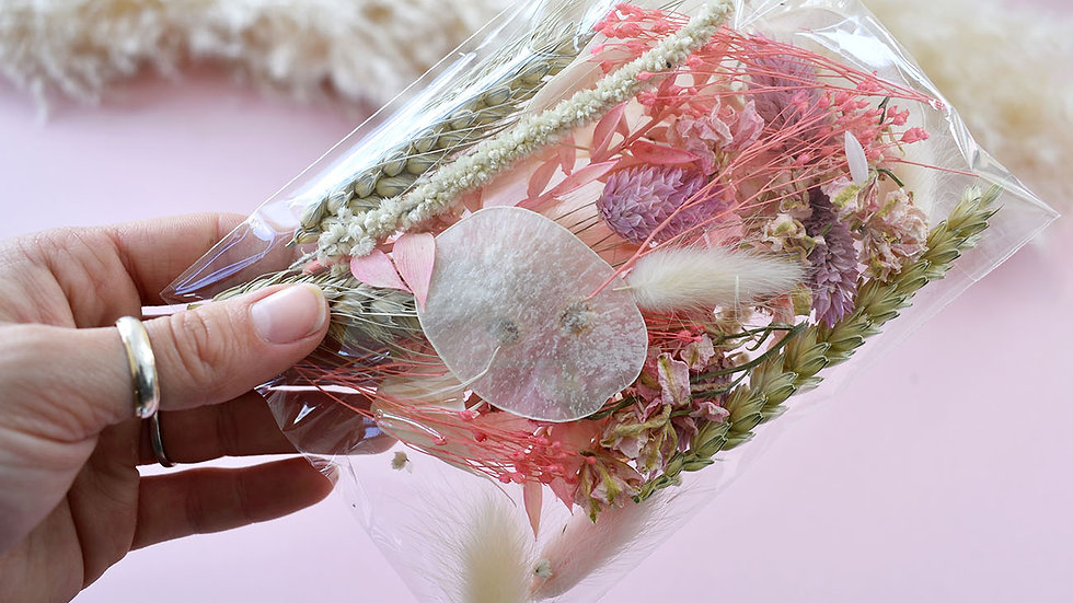 Pink & Neutral Craft Pack | Dried Flowers for crafts | Florist Blackpool