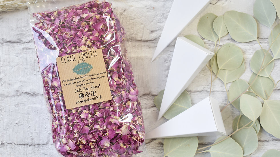 Confetti with Cones | Biodegradable Confetti | Rose Petal Confetti