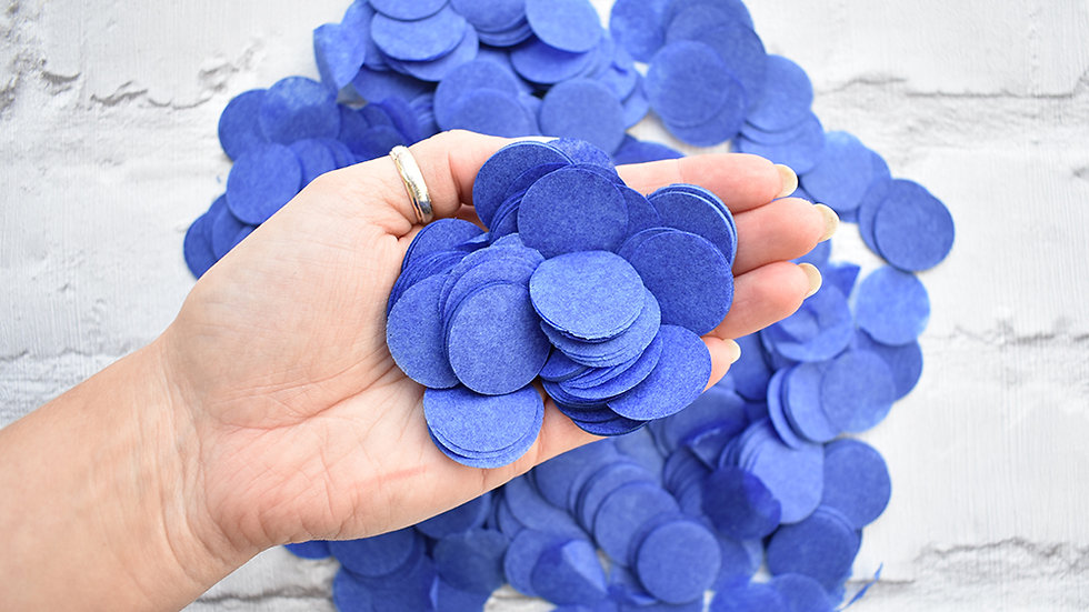 Navy Circle Confetti | Biodegradable Confetti | Paper Confetti