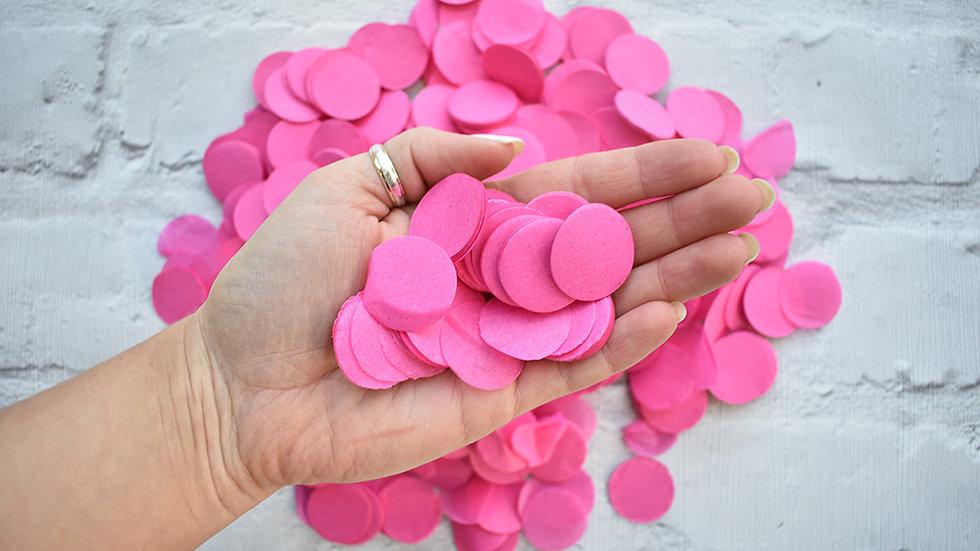 Bright Pink Circle Confetti | Biodegradable Confetti | Paper Confetti