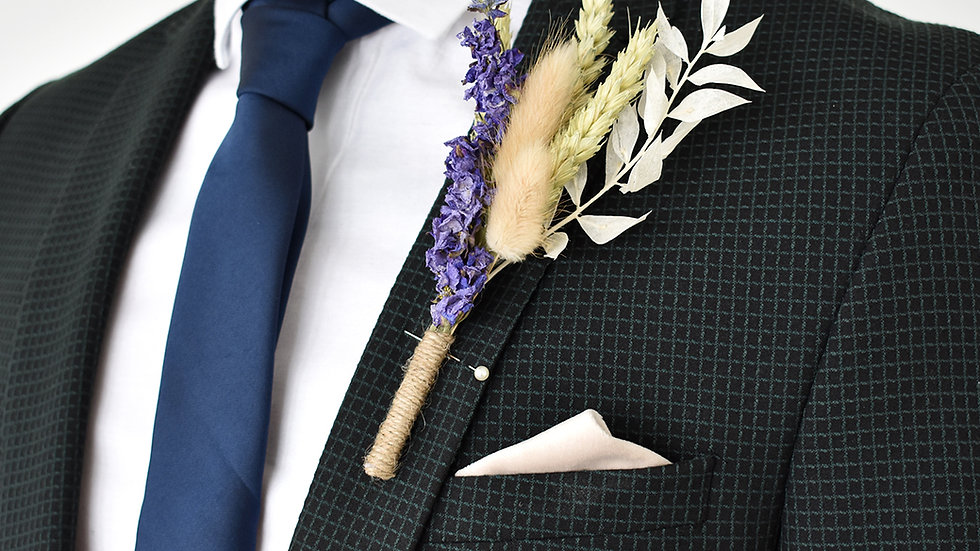 Majestic Rose Buttonhole | Dried Flowers | Florist Blackpool