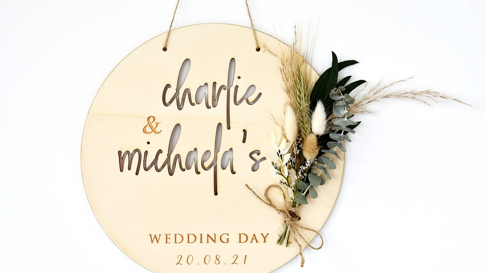 Wedding Wreath | Wall Hanging | Dried Flowers
