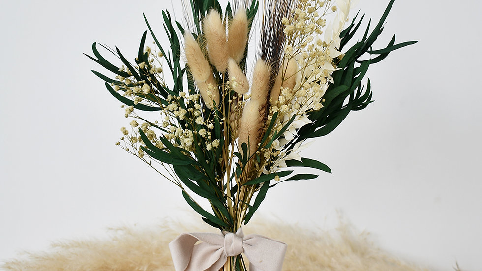 Pure Flower Girl| Dried Flower Bouquet | Bridesmaid Bouquet