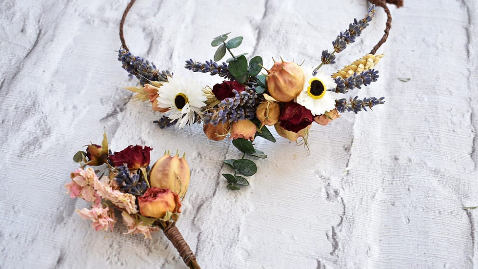 Autumn Vibes Dried Flower Crown Hair Circlet
