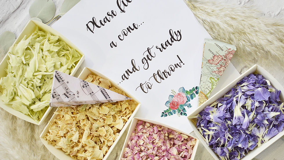 Wedding Confetti | Biodegradable Confetti | Confetti Bar