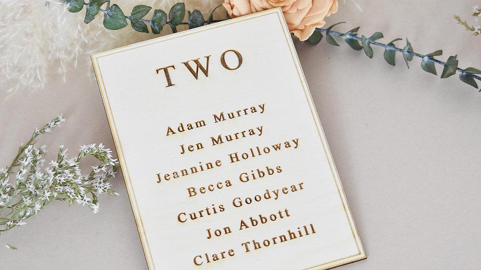 Elegant Wedding | Seating Plan | Table Plan