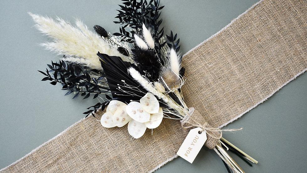 """Monochrome"" Dried Flower Arrangement"