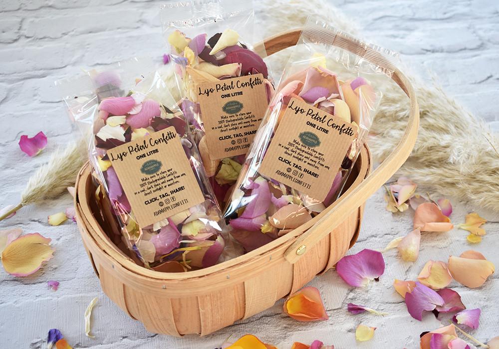 Flower Girl basket | Confetti Basket | Wedding Confetti
