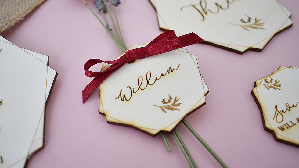 Geo Name Setting  Place Setting   Wedding Favours