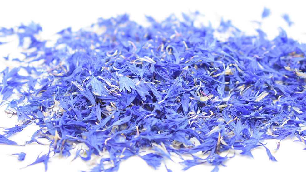 Blue Cornflower Sun-Dried Wild Flower Petal Confetti