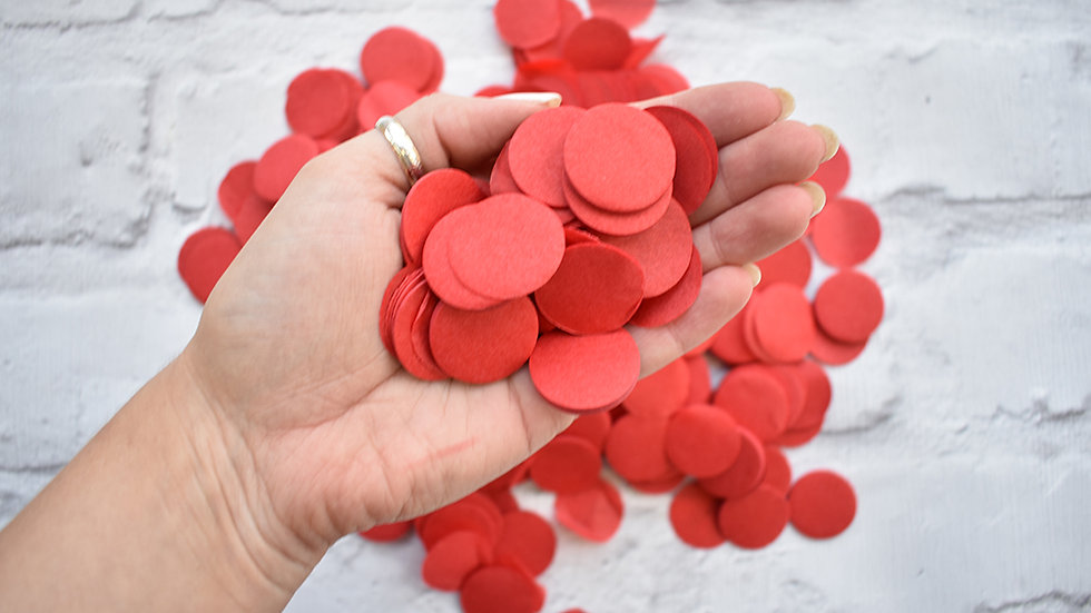 Red Circle Confetti | Biodegradable Confetti | Paper Confetti