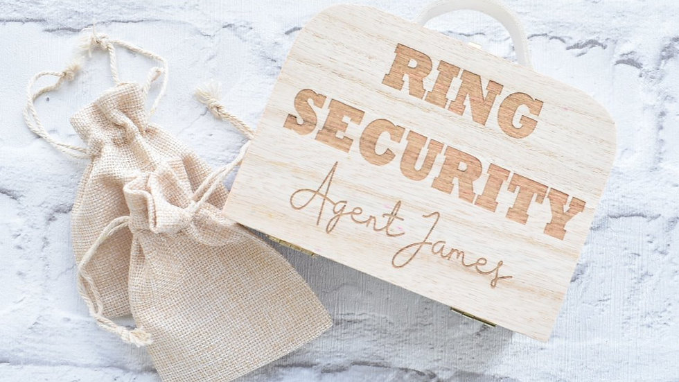 Ring Security | Decorations Wedding | Wooden Names