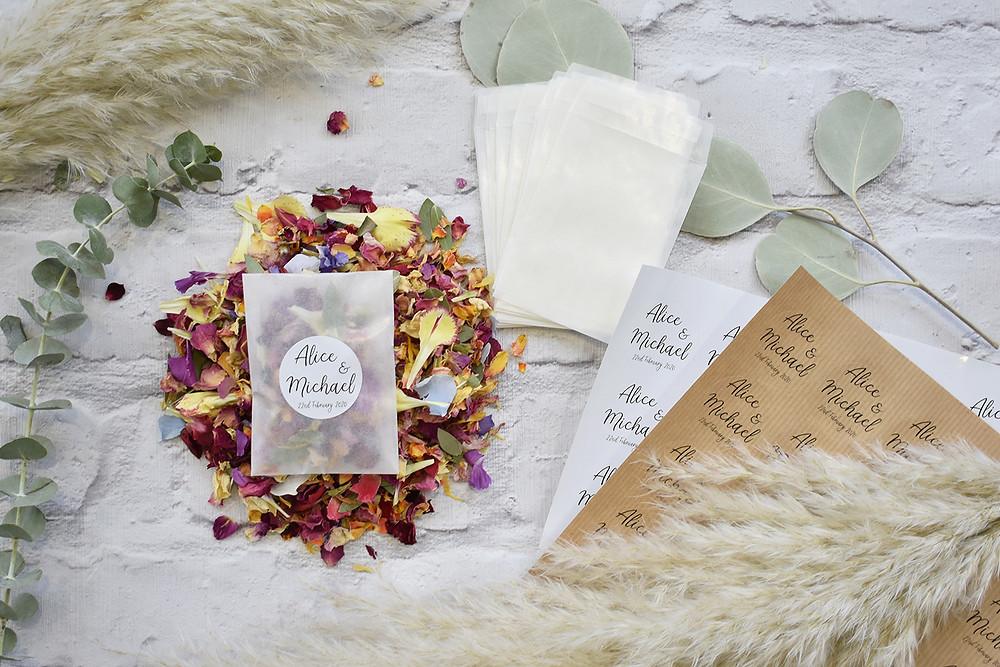 biodegradable confetti packets