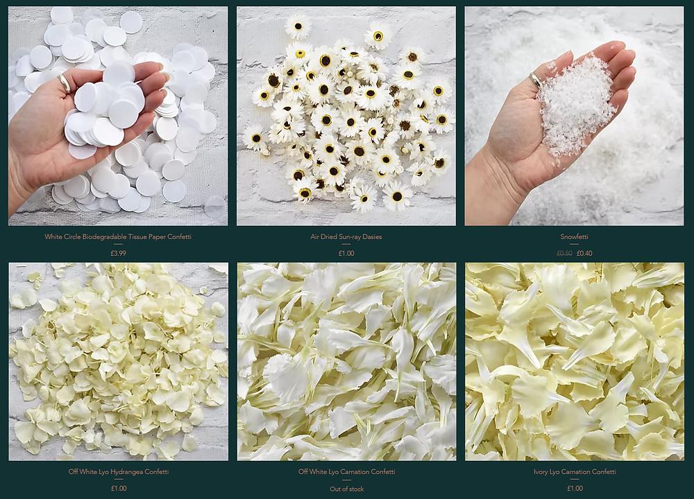 White Confetti | Snow Confetti | Petal Confetti