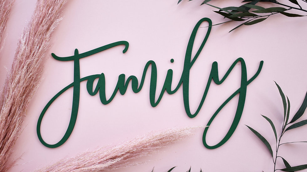 Family Sign | Wall Sign | Home Decoration