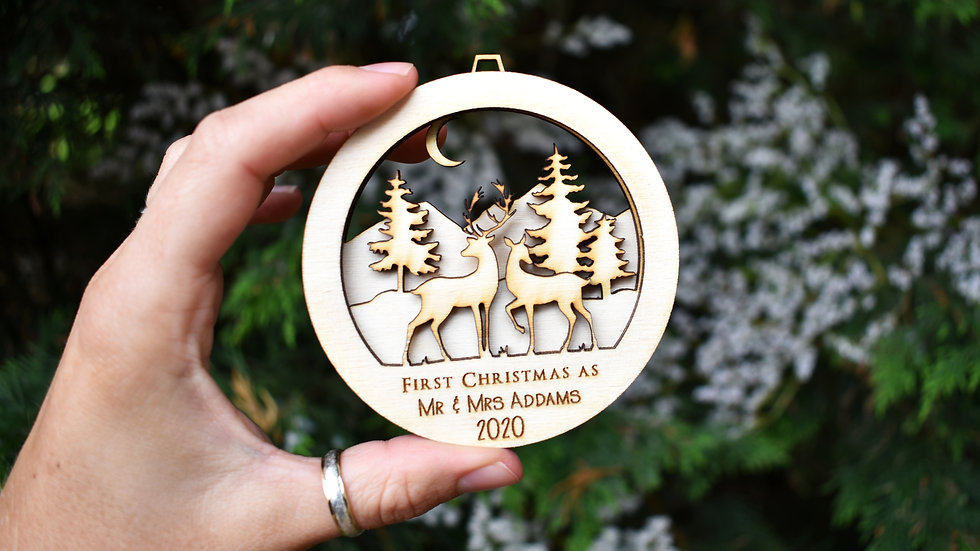 Newlywed christmas baubles | Personalised bauble | Bauble