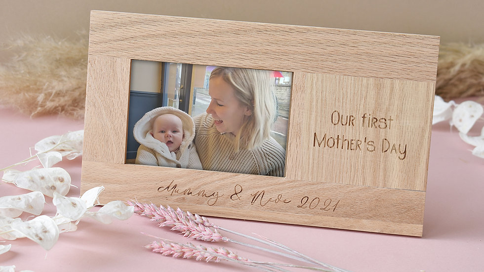 Personalised Photo frame | 6x4 photo frame | wooden photo frame