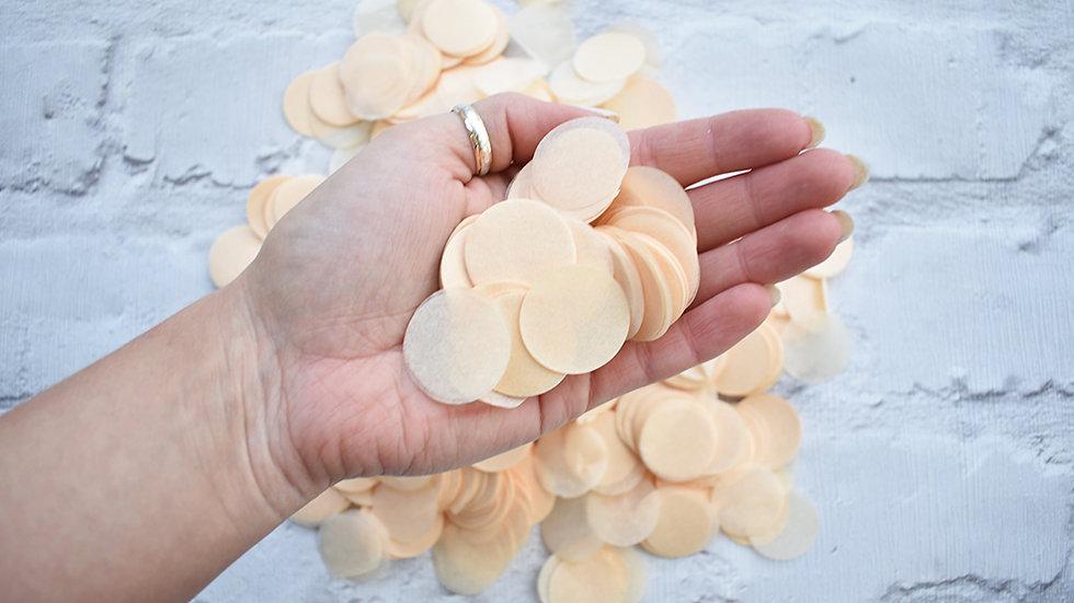 Ivory Circle Confetti | Biodegradable Confetti | Paper Confetti