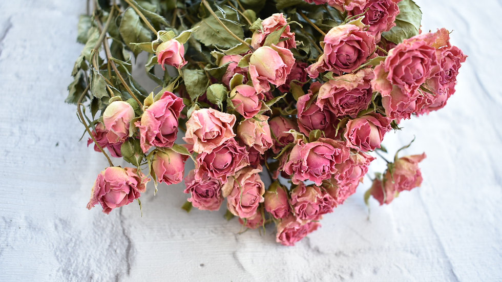 Dried Pink Roses | Dried Flowers | Dried Flower Bouquet