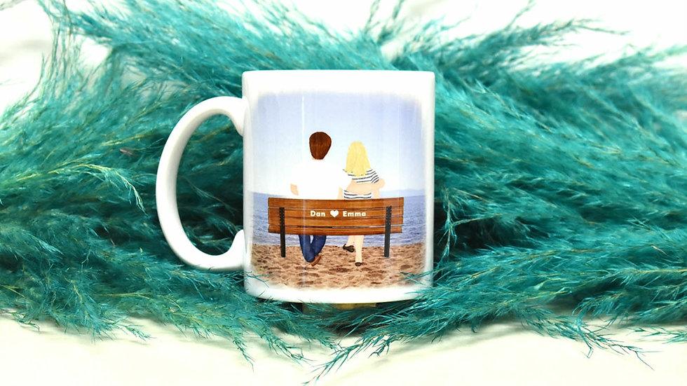 """Personalised Mug  """"By the Ocean"""""""