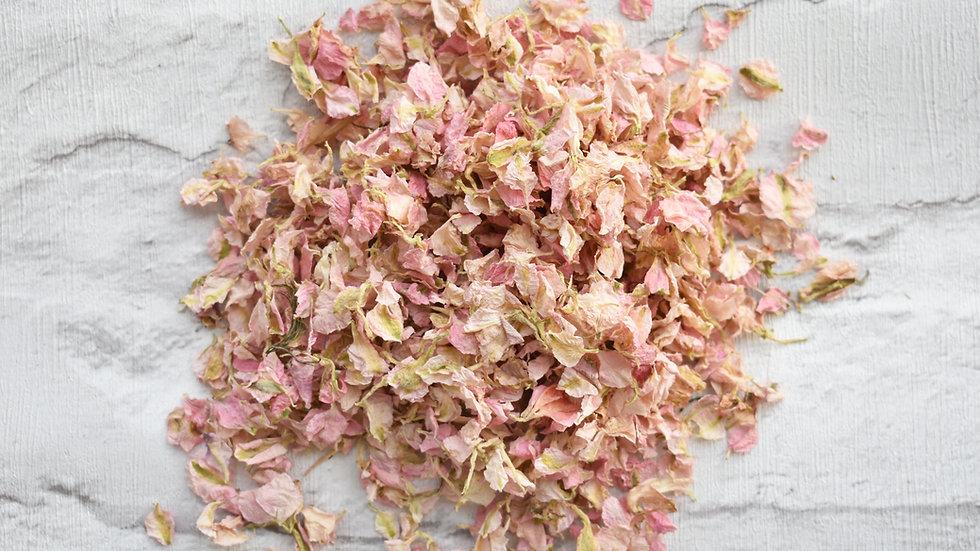 Pink Delphinium Confetti | Flower Confetti | Biodegradable Confetti