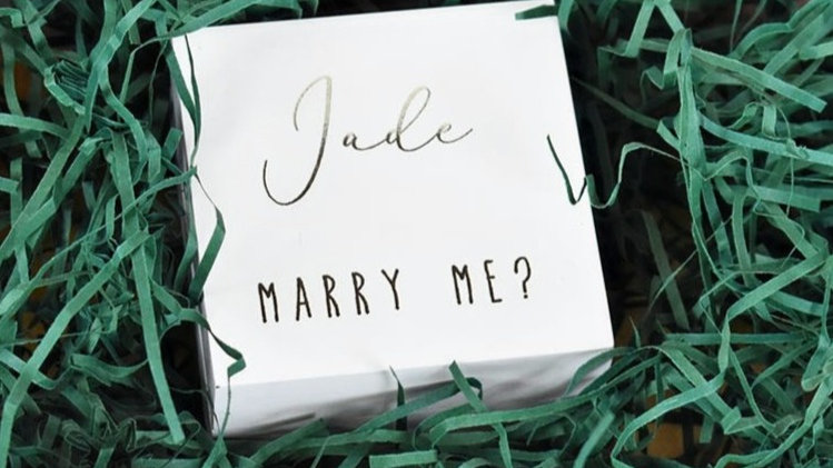 Personalised Ring Box | Proposal ideas | Valentines Day