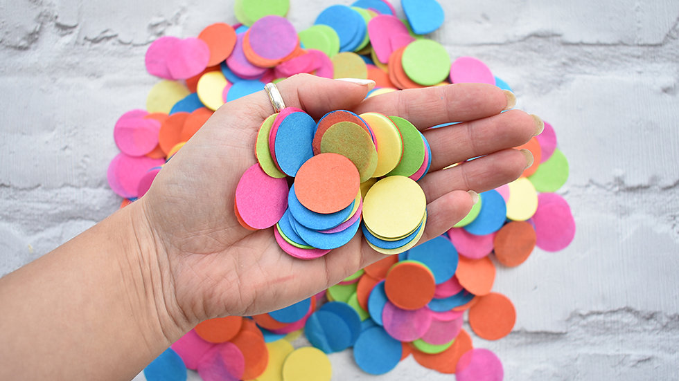 Rainbow Circle Confetti | Biodegradable Confetti | Paper Confetti