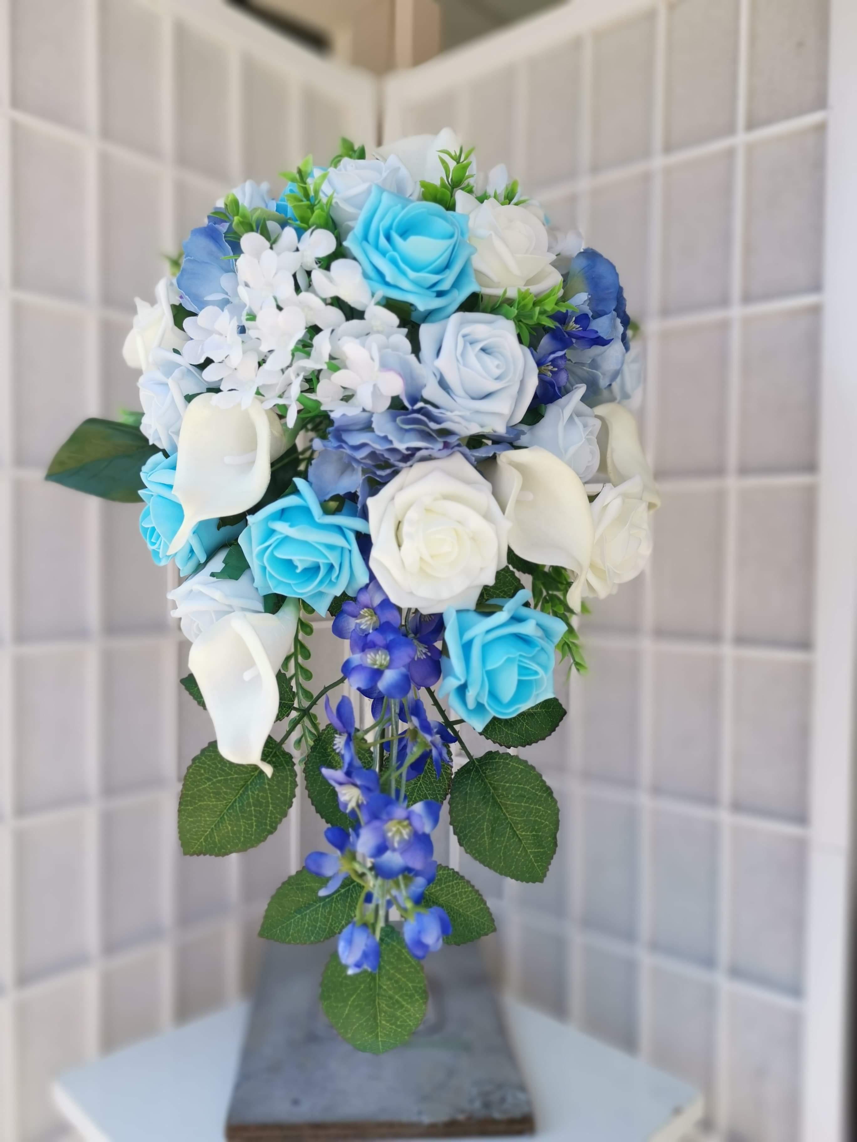Blue Trailing Bouquet