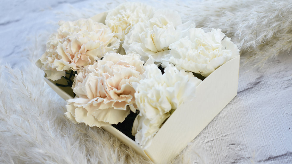 Freeze Dried white Carnation | Dried Flowers | Dried Flower Bouquet