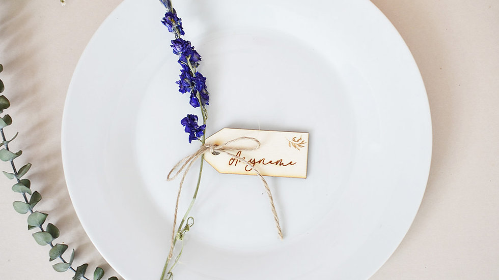 Luggage Label | Place Setting | Wedding Favours