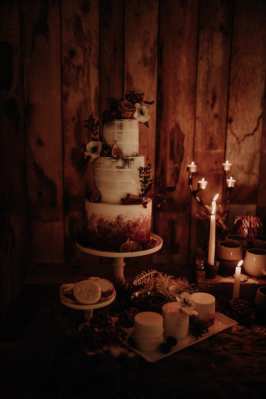 Wedding Cake | Naked Cake | Winter Wedding