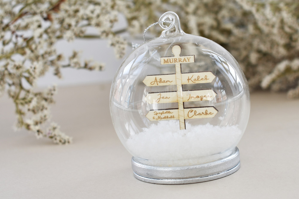 Personalised Bauble | Snow Globe | Christmas Decoration