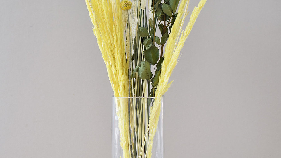 Yellow Dried Flowers   Bunches of flowers   Dried Flowers for Delivery
