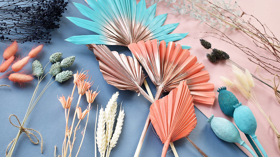 Ibiza Vibes Dried Flowers | Dried Flowers | Cake Topper