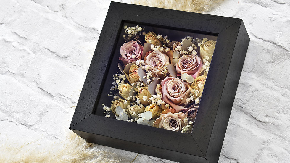 Black Box Frame | Flower Framing | Flower Preservation