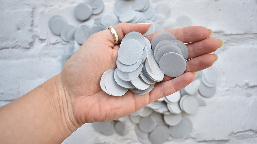 Grey Circle Biodegradable Tissue Paper Confetti