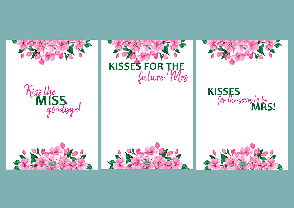 This is a picture of Kiss the Miss Goodbye Printable with message