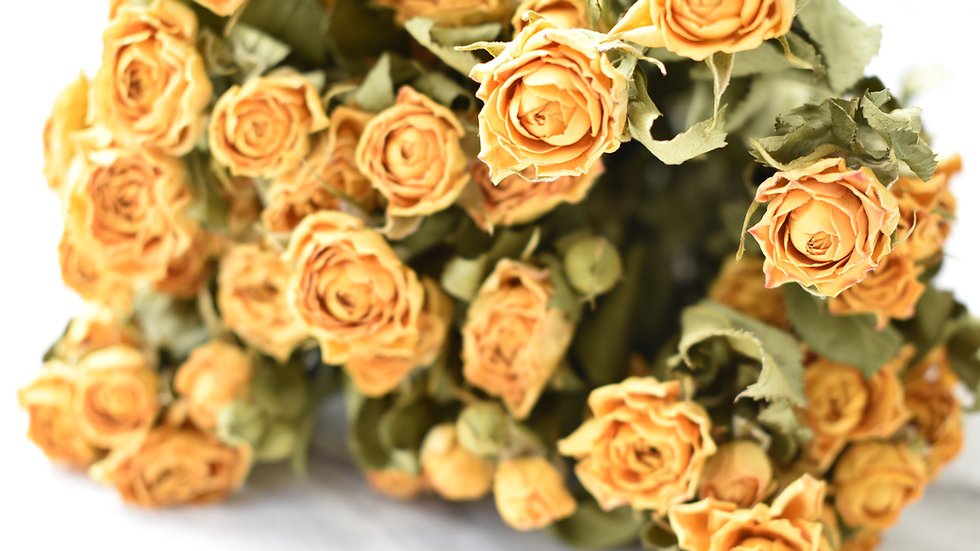 Dried Yellow Roses | Dried Flowers | Dried Flower Bouquet