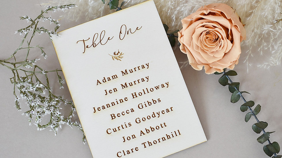 Traditional Wedding | Seating Plan | Table Plan