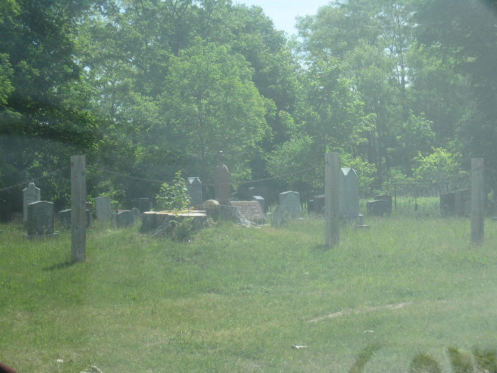 A cemetery on the Pickering Lands, one of the few indications that remain of a past bustling farm community